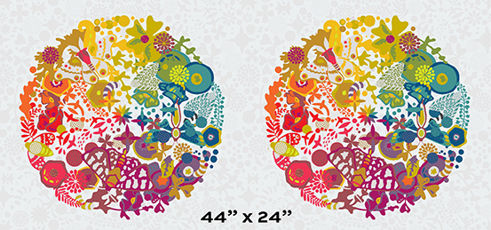 X/& in Day  Alison Glass Andover Fabric from /' Art Theory Collection /'   Gray Tonal Floral Fabric  A-9704-L