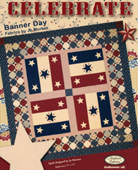 """""""Celebrate"""" Free Patriotic Quilt Pattern designed by Jo Morton from Andover Fabrics"""