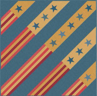 """""""Fireworks"""" Free Patriotic Quilt Pattern designed by Renée Nanneman from Andover Fabrics"""