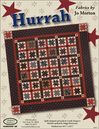 """""""Hurrah"""" Free Patriotic Quilt Pattern designed by Candy Hargrove from Andover Fabrics"""