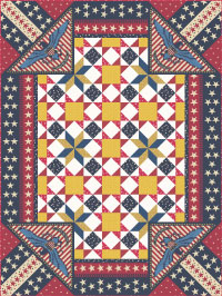 Patriotic Land Of The Free Quilt Pattern Designed By Heidi Pridemore From Andover Fabrics