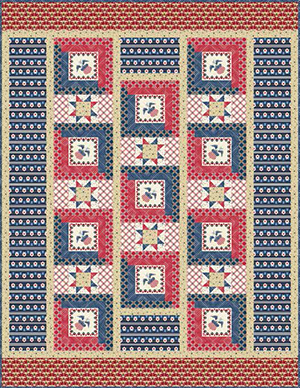 """""""Salute"""" Free Patriotic Quilt Pattern designed by Janet Houts from Andover Fabrics"""